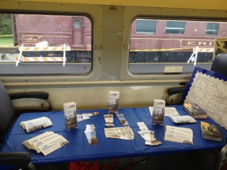 NARP literature display aboard one of the display cars.