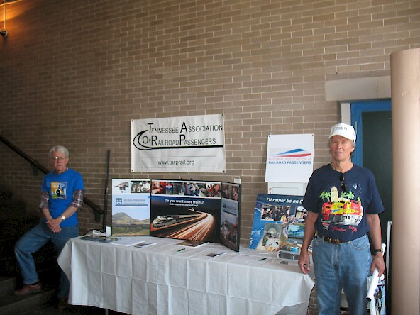 NARP members Bruce Smedley (left) and Carl Olsen with the NARP/TARP table.